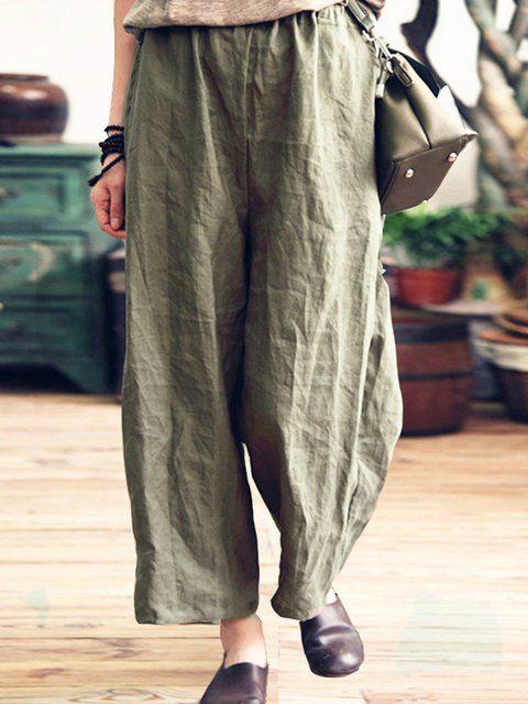 7d89fda139f77 Online Shopping Plain Pockets Linen Plus Size Cotton Cardigan
