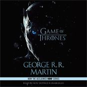 I finished listening to A Game of Thrones: A Song of Ice and Fire, Book 1 (Unabridged) by George R. R. Martin, narrated by Roy Dotrice on my Audible app.  Try Audible and get it free.
