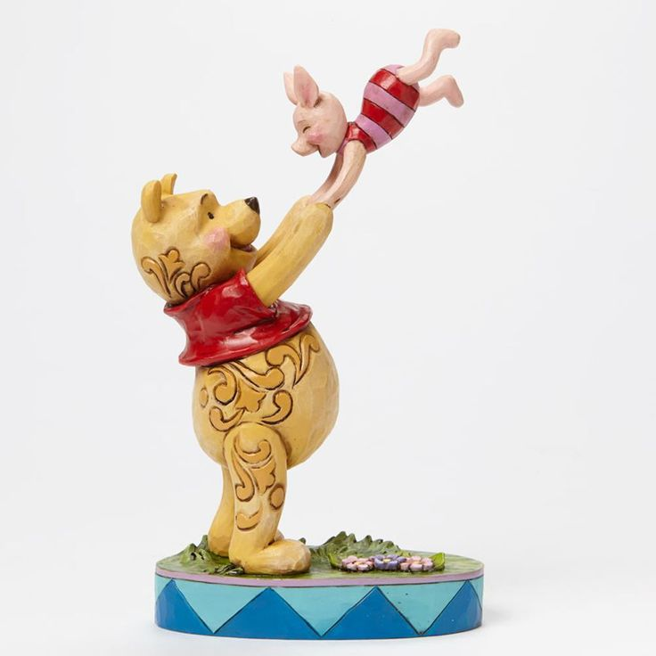 Jim Shore Disney's Winnie the Pooh Bear Tossing Piglet in the Air Playtime