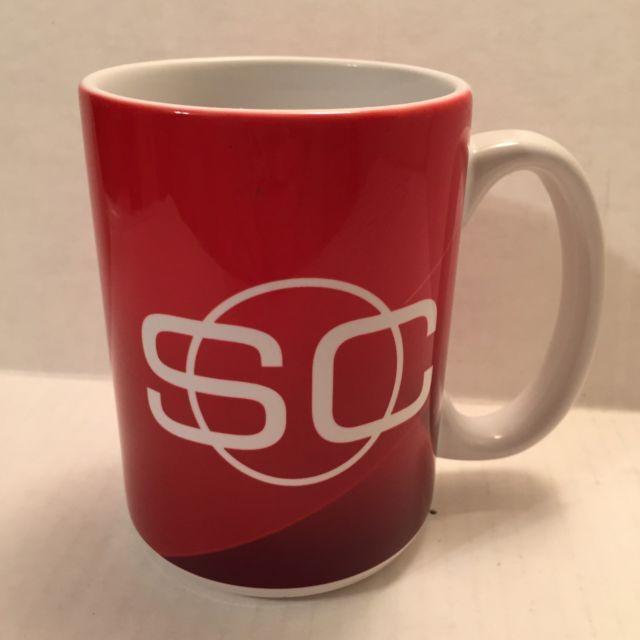 ESPN Sports Center Coffee Mug Tea Cup DA-DA-DA Theme News NFL MLB NHL NBA Red | eBay