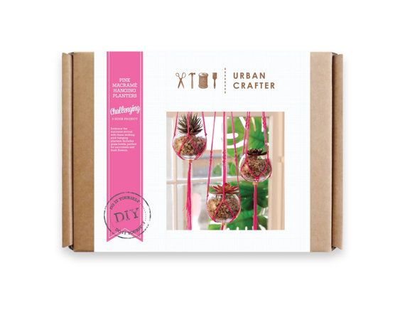 Urban Crafter Pink Macrame Hanging Planters DIY by UrbanCrafterDIY Packaging