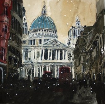 Susan BROWN - Spiritual Presence, St Pauls, London - Paintings of #London by British artists at www.redraggallery.co.uk