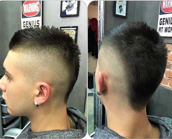 Taper Mohawk Haircut 2020 In 2020 Short Hair Mohawk Mohawk Haircut Short Mohawk