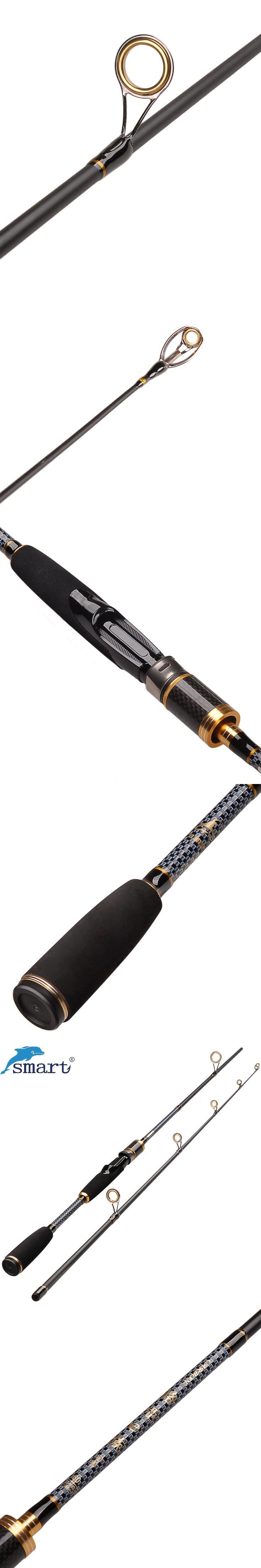1.8m 2.1m 2.4m 2Section Spinning Fishing Rod Medium Power Carbon Fiber Lure Rods Vara De Pesca Canne A Peche Carp Fishing Tackle