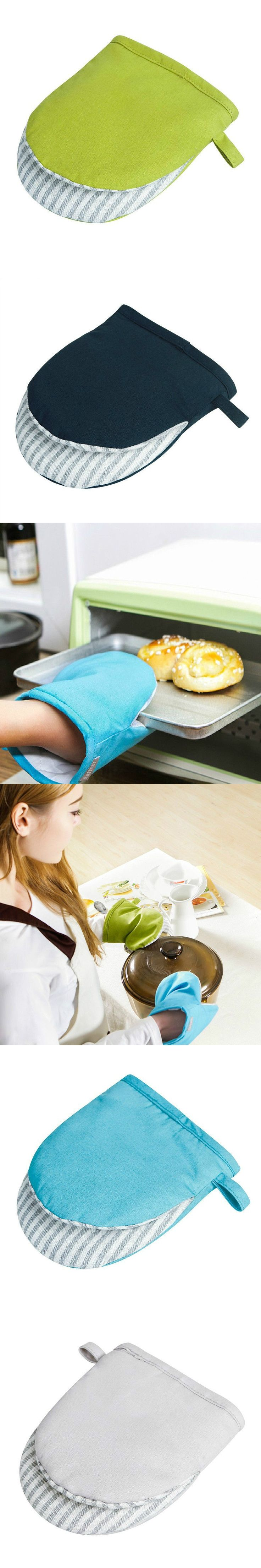 Household Gloves High temperature oven microwave oven heat insulation protective gloves blue dark blue gray green