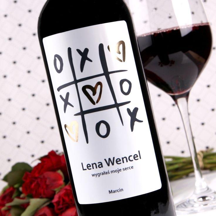 Personalizowane Czerwone Wino KÓŁKO I KRZYŻYK