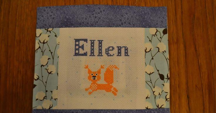 Andra sidan av Ellens kudde.