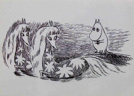 Muumi ja merihevoset-kortti