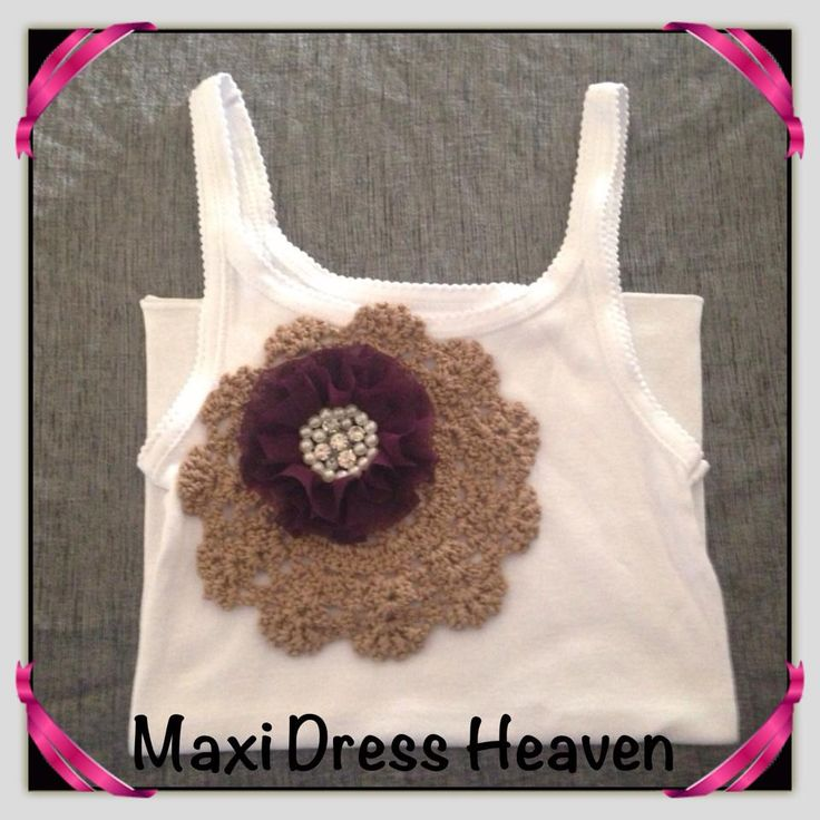Girl's Cotton Singlet with Doily Accent with sizing from 1-2 to 9-10. Also available in long sleeve design. Available to pre-order from www.maxidressheaven.com #girl #clothing #handmade #singlet
