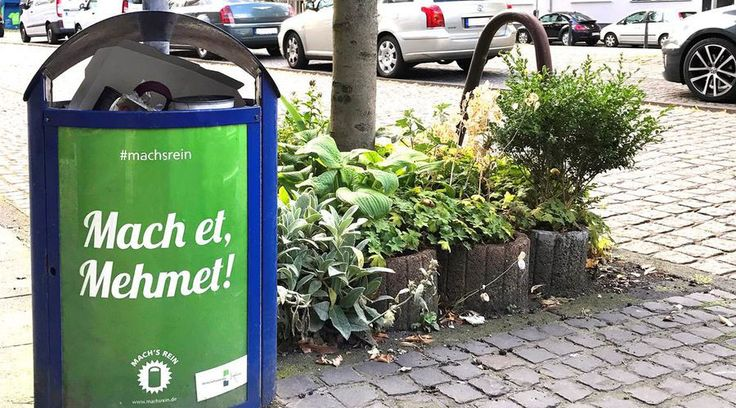STINKY RACISM IN GERMANY.  'Do it, Mehmet': German anti-litter campaign under fire for using Turkish names — RT News