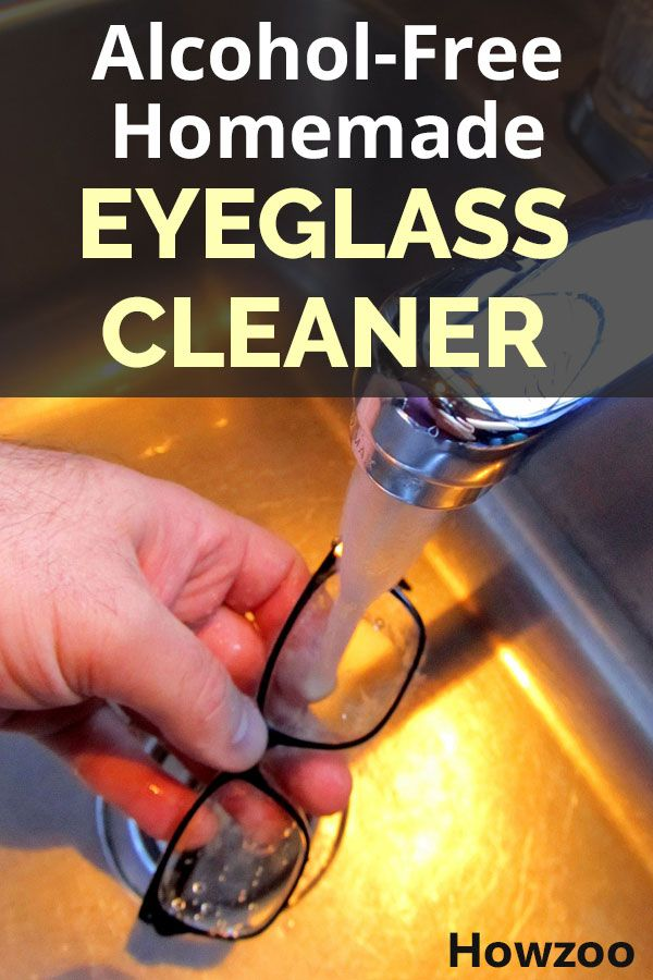 This is a DIY alcohol-free homemade eyeglass cleaner. It