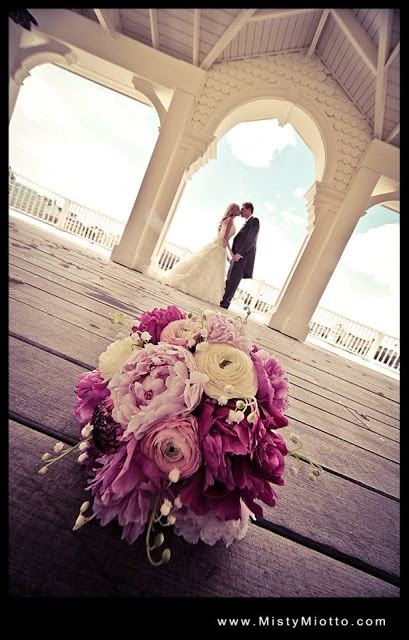 Hand tied (hand wrapped) bouquet | Walt Disney World BoardWalk Wedding Photos