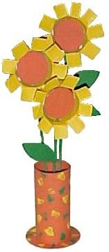 Upcycle toilet paper rolls to make this fun sunflower craft with your kids!