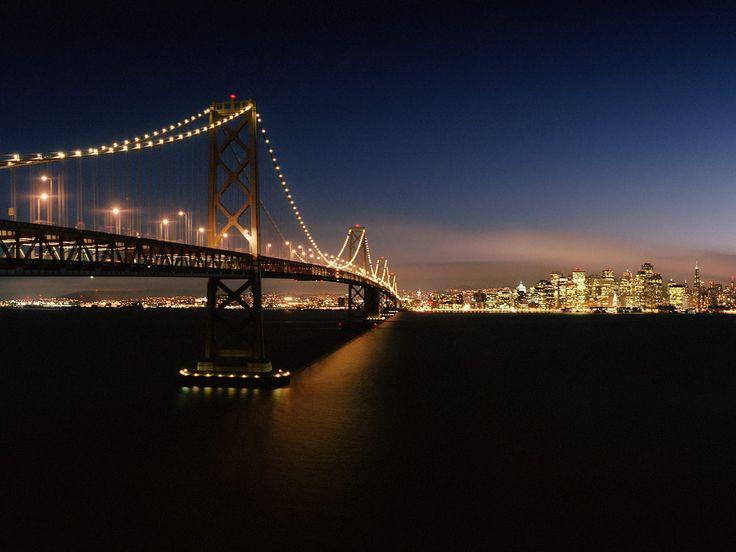 san francisco -- bay bridge: San Francisco, Favorit Place, San Francisco California, Favorite Places, Cities Lighting, Golden Gates Bridges, Place I D, Travel, Bays Bridges