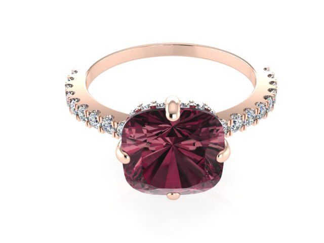 Diamond Rings, Modern Wedding Ring, Engagement Ring, Rose Gold Unique Ring, Garnet Ring, Modern Solitaire Rings, Promise Ring by BridalRings on Etsy https://www.etsy.com/listing/249775852/diamond-rings-modern-wedding-ring