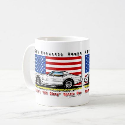 1976 Corvette Coffee Mug - american travel gifts giftideas traveller america