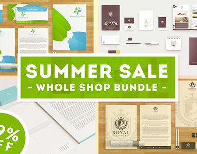 "Check out new work on my @Behance portfolio: ""Summer Sale - Whole Shop Bundle!"" http://on.be.net/1LSnOyt"