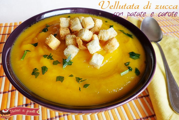 Vellutata di zucca carote e patate
