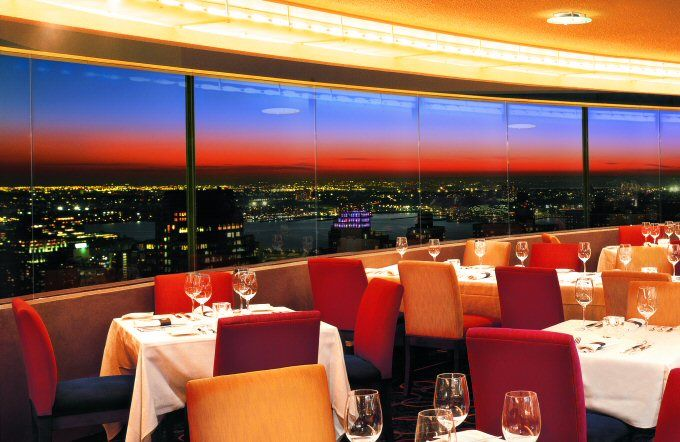 We had a sunset dinner at The View, a revolving restaurant on top of the Marriott Marquis at Times Square in New York City.