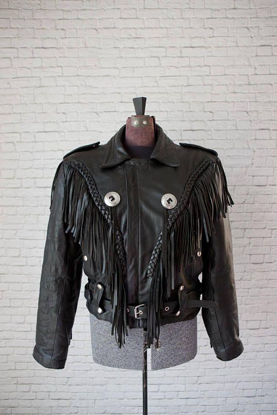 c178efefa Pin by Stephanie Smash on **Vintage** | Fringe leather jacket, Black ...