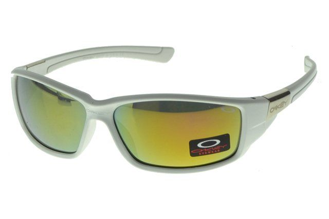 Wholesale Replica Oakley Asian Fit Sunglasses White Frame Yellow Lens 1288#Oakley Sunglasses