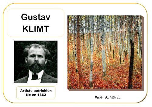 Gustav Klimt Forêt de hêtres - Portrait d'artiste