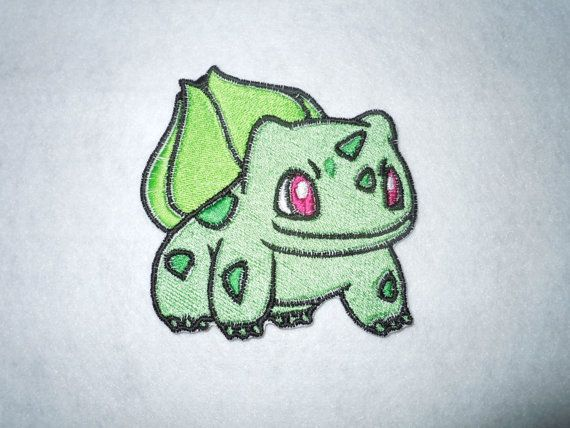 Large Bulbasaur Pokemon Patch by LittleWolfStudios on Etsy