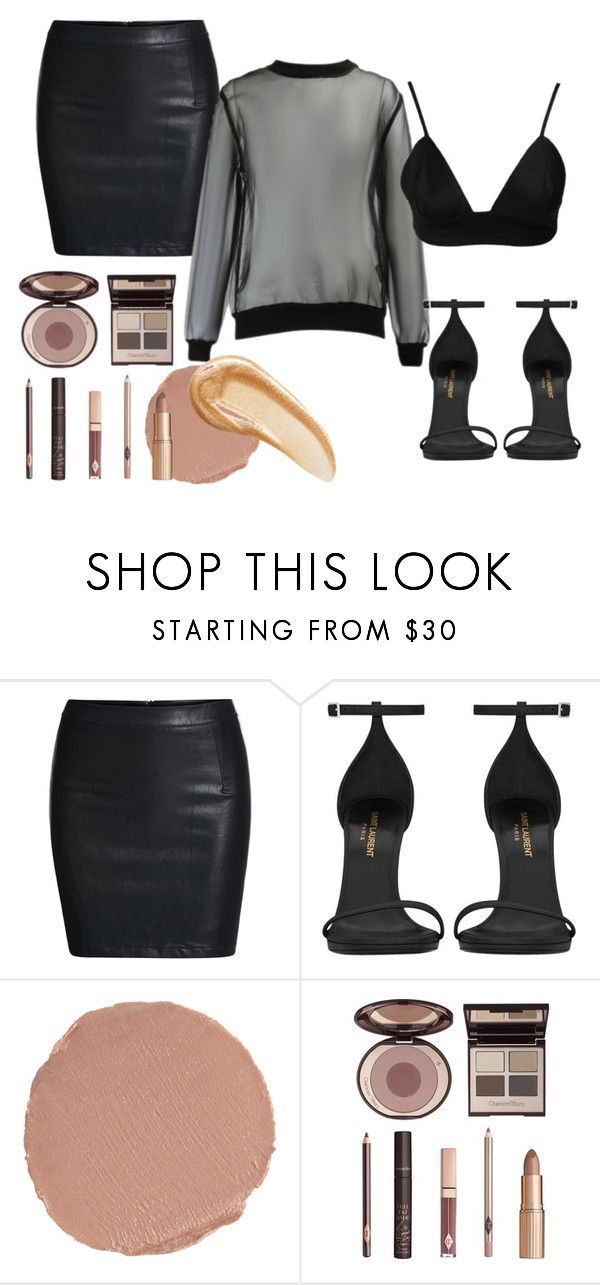 """""""MICAH GIANNELU STYLE"""" by iamamaven on Polyvore featuring Yves Saint Laurent and Charlotte Tilbury"""