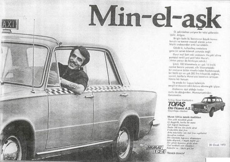 January 20, 1972 - Fiat 124 - Tofaş Murat 124 Turkish Ad