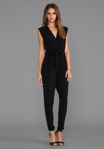 THEORY Selection Pavona Jumpsuit in Black at Revolve Clothing
