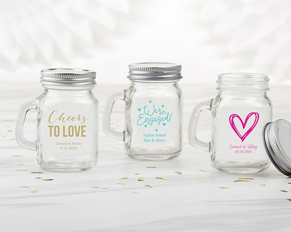 Bachelor Party Wedding Favor Jar Bridal Party Favor Bridal Party Gift Personalized Mini Mason Jar Shot Glass Custom