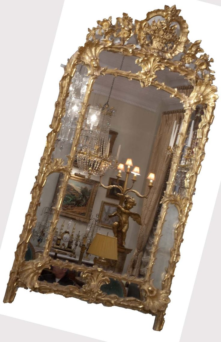 antique mirror bear glass - 736×1136