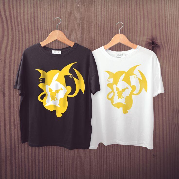 Camisa Pokémon, evolução. Pichu - Pikachu - Raichu