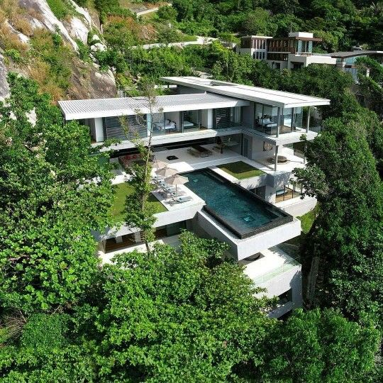 hypebeast#hypelife: located in Phuket, Thailand is the stunning Villa Amanzi, nestled in a cascading ravine that overlooks breath taking views of the Andaman Sea.