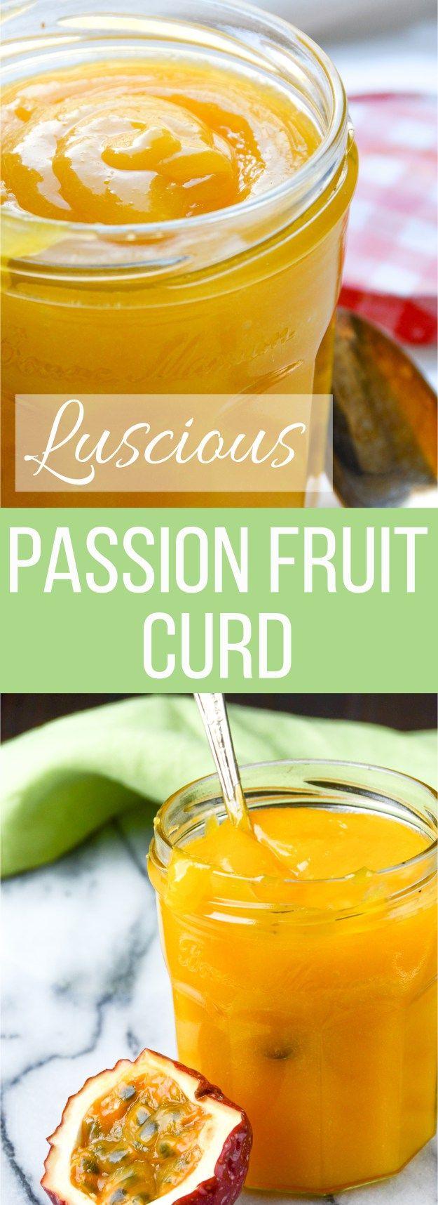 Garlic + Zest - Sweet Tart Passion Fruit Curd recipe