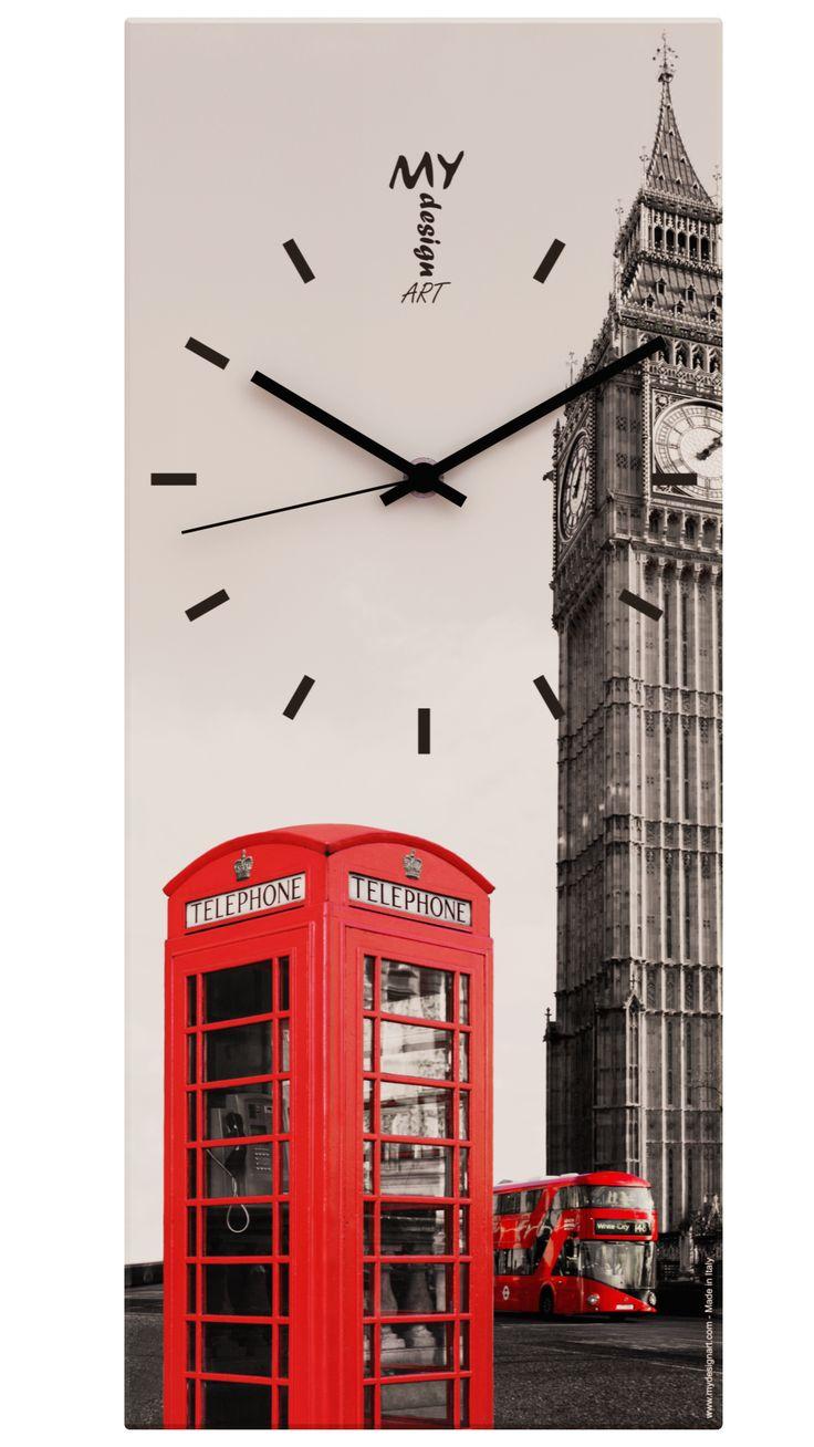 "Orologio da Parete ""Time"" London. by MyDesignArt. www.mydesignart.com"