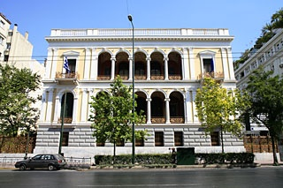 "VISIT GREECE| ""Iliou Melathron"", Panepistimiou str. Designed by Ernst Ziller as a private residence for Henry Schliemann. Currently houses the Numismatic museum and a wonderful garden with a coffee shop!"