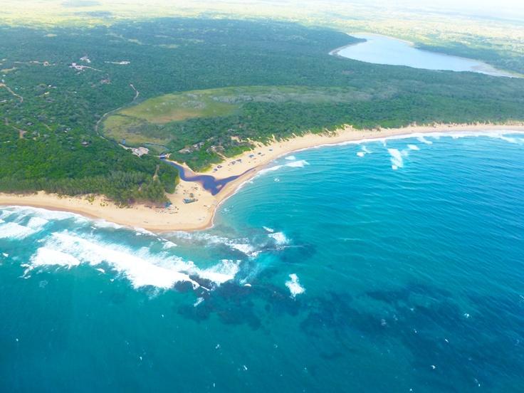 aerial shot - sodwana bay, sa