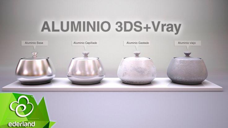 Creación de materiales Vray 3.0 &  3ds max - Aluminio