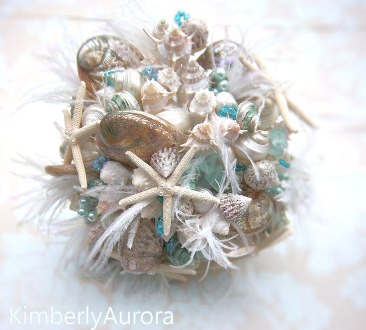 Wedding Bouquets With Seashells