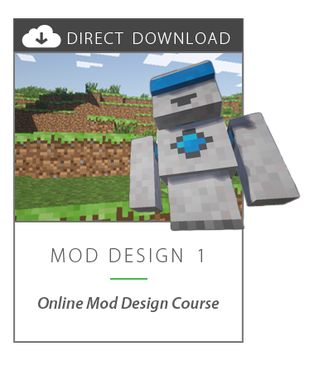 Mod Design 1 - a Minecraft Mod Design class for kids.  Learn to use Java by modifying Minecraft.