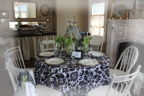 Love black and white!: Taylors Tablescapes, Open House, Luncheon Tablescapes, Tables Scapes, Breakfast Nooks, Bing Image, Table Scapes, Tablescapes T Sets, Tablescapest Sets