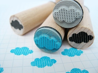 Cloud rubber stamp. :-`