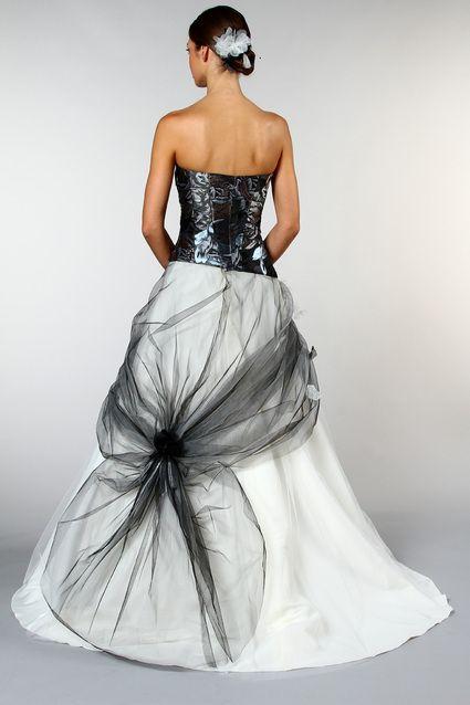 32 best images about robe de mari e noir et blanche on. Black Bedroom Furniture Sets. Home Design Ideas