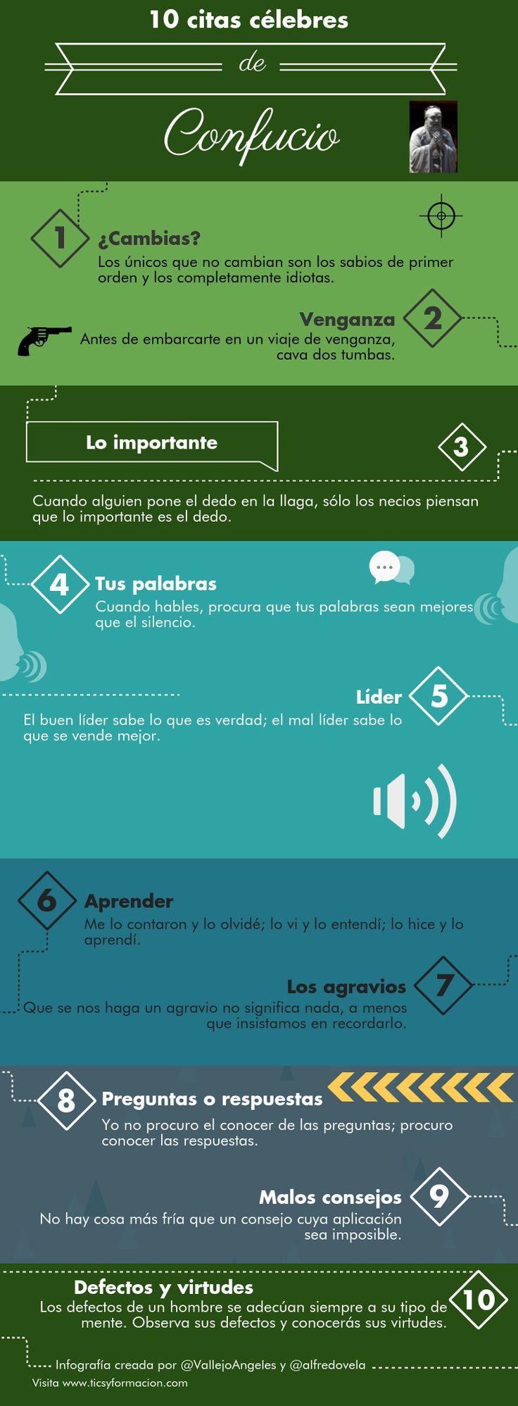 10 citas célebres de Confucio #infografia #infographic #citas #quotes | TICs y Formación