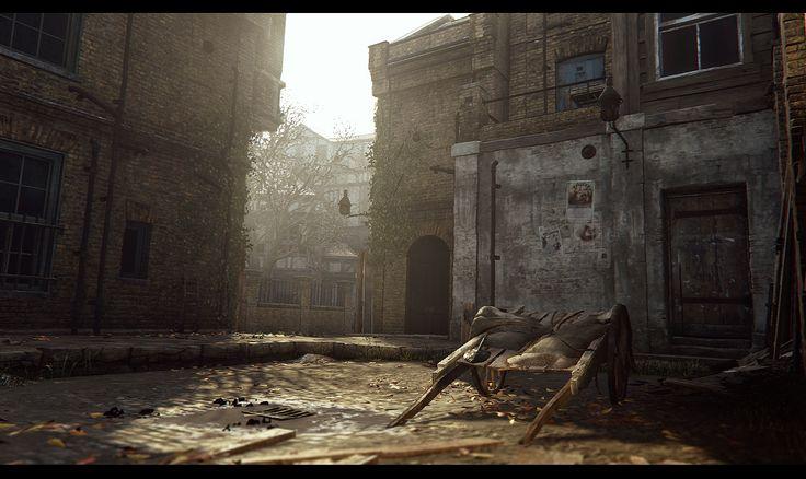 "ArtStation - Assassin's Creed Syndicate - Whitechapel East (Backalleys and Backyards), Bertrand ""Kali"" Bergougnoux"