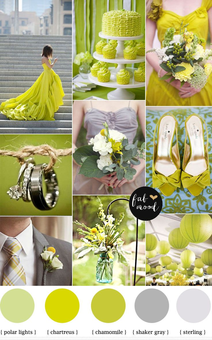 Modern Chartreuse Wedding : Chartreuse color palette | http://www.fabmood.com/modern-chartreuse-wedding-chartreuse-color-palette/