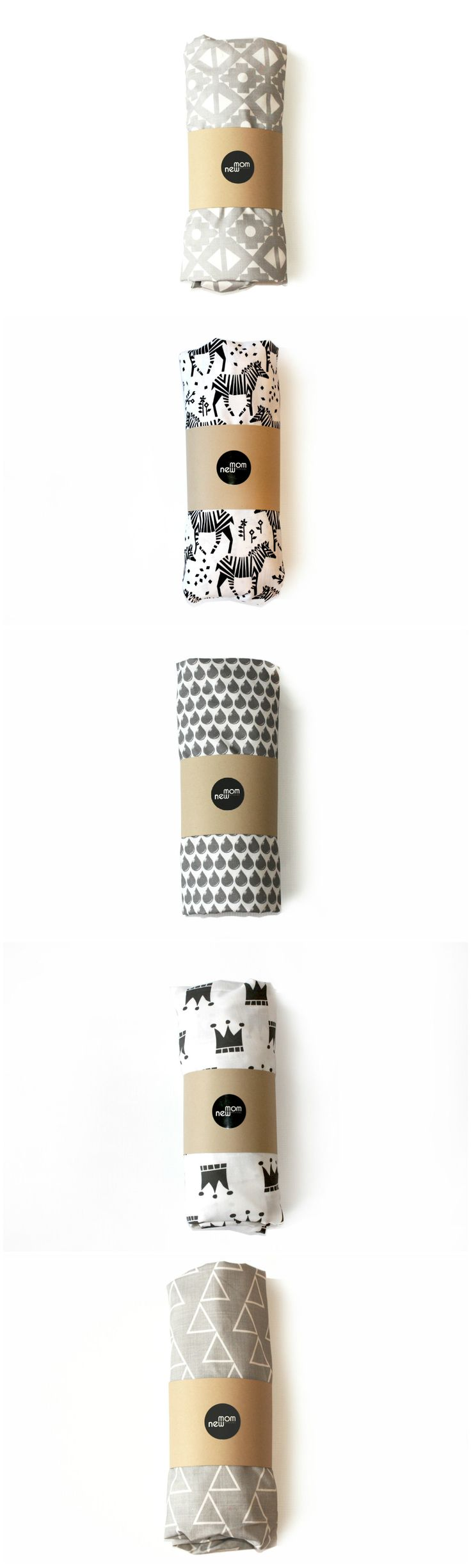Stylish monochrome crib sheets for a trendy nursery/ toddler room
