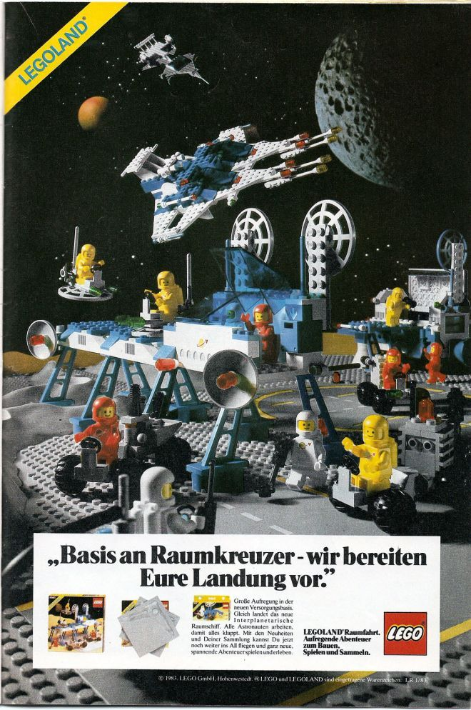Lego space station ad (1983)