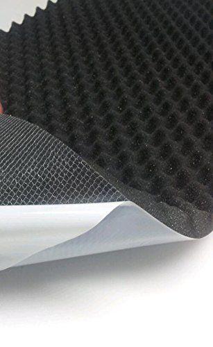 Mousse acoustique, mousse alvéolée, isolation (100x 50cm x H) Blanc ou Noir: Textiles garantis sans substances nocives textiles confiance…